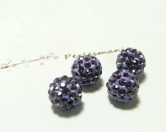 10 pearls 10mm quality purple shambala