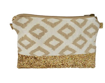 """Eternal"" bag in jacquard and gold glitter"