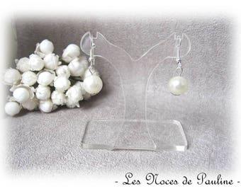 Earrings Ivory Pearl Sam