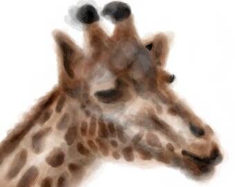 Inktober #21 2017 - Giraffe [PRINT]