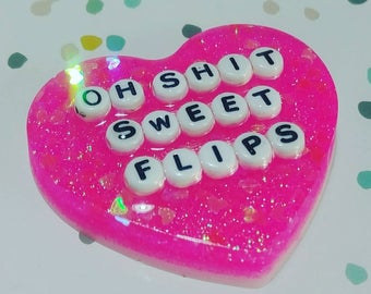 The Adventure Zone Oh Shit Sweet Flips pin