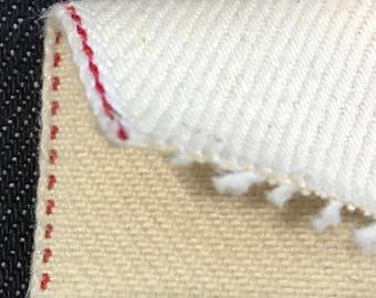 """13oz Unbleached cotton denim #22UB """"1.4 yard"""""""