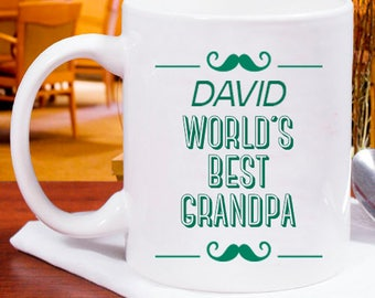 A Well Built World's Best Grandpa Mug Personalized With Name Printed
