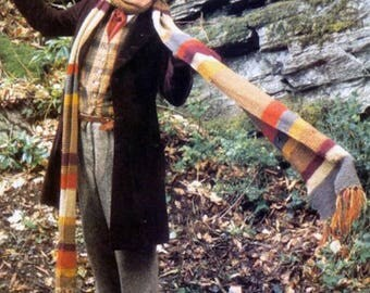 4th Doctor Who Scarf, Easy & Quick, Knitting Pattern. PDF Instant Download.