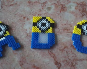 Minion Alphabet Letters made from Perler Beads - Entire Alphabet