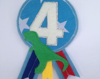Dinosaur Birthday Badge