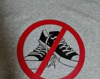 "T shirt ""No Shoes"""