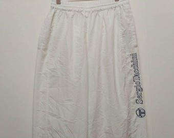 Sergio Tacchini Bottom Track Pants Black and White Medium Size
