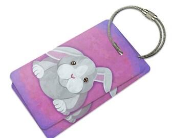 Bunny Rabbit Suitcase Bag Id Luggage Tag Set