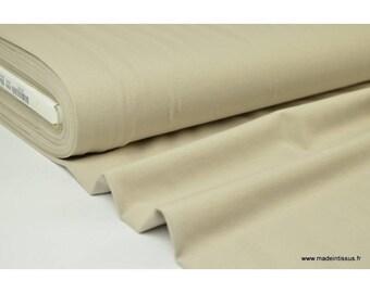 JERSEY coton élasthanne beige x1m