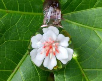 White Magnolia Pendant