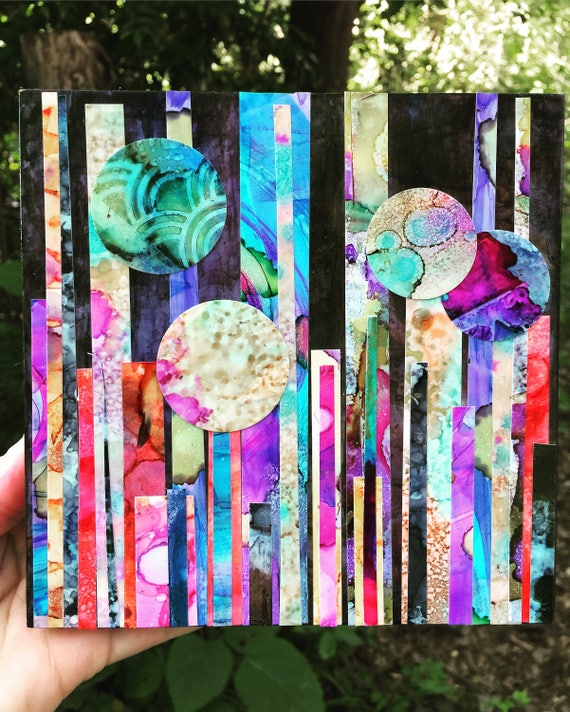 Alcohol Ink collage
