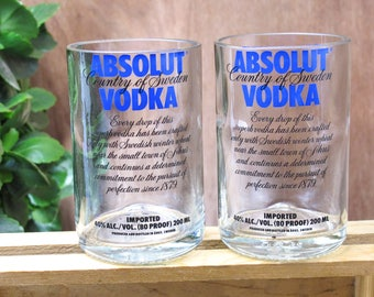 vodka themed gift Absolut Vodka Table Double vodka shot glass set gift for xmas present birthday present gift for adult fun gift unique