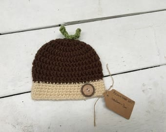 Acorn Hat (Newborn-Adult)