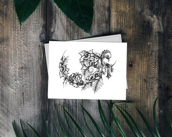 Drawing - Floral Illustration - Artprint - Botanic Illustration - Design Poster - Plants Ornament - Print