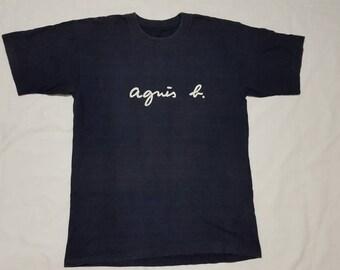 Vintage AGNES B Spellout Big Logo T Shirt