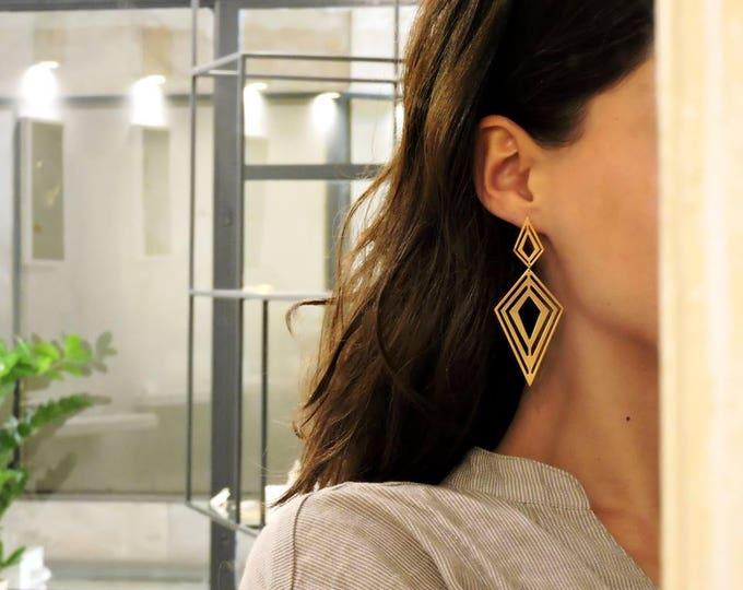 Fractal Rombus Earrings