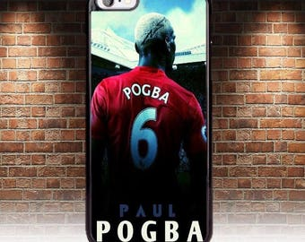 New 2017 Paul Pogba Manchester United case fits Iphone 4 4s 5 5s 5c se 6 6s 7 plus 8 cover hard mobile phone apple. Man U