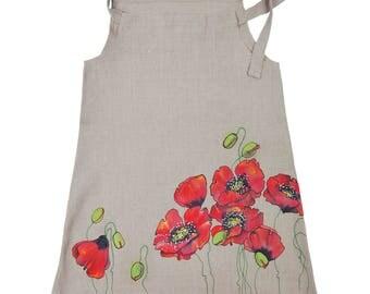 Handmade Linen Poppy Dress