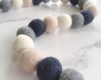 Custom Felt Ball Garland, Feltball Garland, Pom Pom Garland, Garland, Home, Nursery, Bedroom, Decoration, Customise