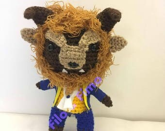 Beast - Beauty and the Beast - Chibi Doll Amigurumi
