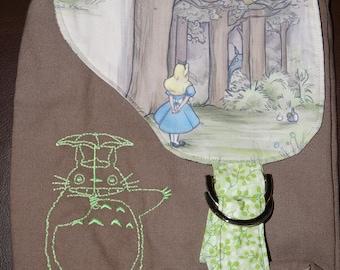 Alice in Wonderland Totoro Mini Messenger Bag