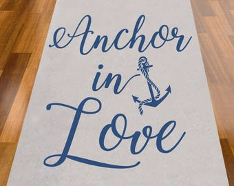 Anchor in Love Wedding Aisle Runner - NOT PERSONALIZED (MIC-AR9299-A1271)