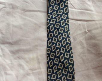 Vintage 20s Necktie - 20s Tie - 20s Cravat - 20s Silk Necktie - 20s Foulard Necktie - Silk Foulard Necktie - McCurrach -