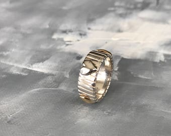 Sterling Silver 925 Ring of Hearts