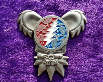 V1 Grateful Dead Bearie Hat Pin By Josh Carver (Antique Silver)