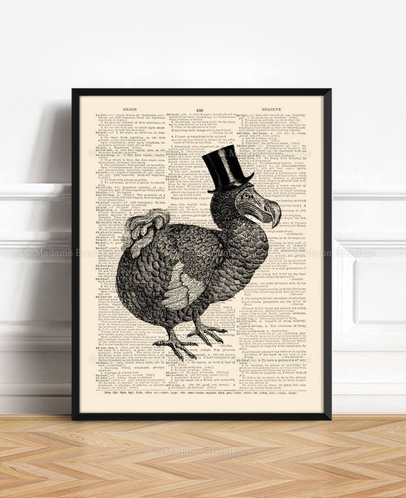 Dodo Bird Poster Couples Gift Poster Funny Girlfriend Art