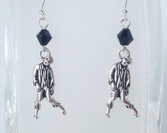 Zombie Silver Charm Earrings
