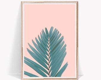 Palm Leaf Print,Leaves Print,Leaves,Wall Art,Tropical Print,Leaf,Wall Decor,Tropical,Print,Palm Print,Digital Download,Tropical Leaves,Art