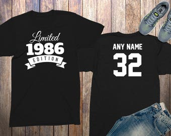 32nd birthday gifts for men shirts 32 year old birthday men 1986 birthday shirt birthday gifts for him