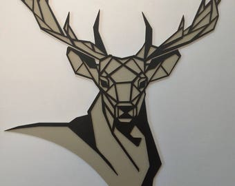 Deer head wall