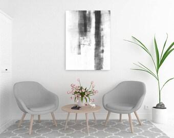 Abstract Art, Minimalist Art, Black & White Wall Art, Large Abstract Painting, Oversized Wall Art, Large Canvas Print, Modern Minimalist