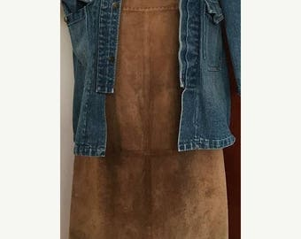 SALE Vintage Country Shop Suede Brown Skirt High-waisted Skirt Size 12