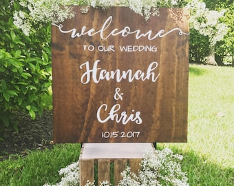 Rustic Welcome to our wedding ideas Wooden Sign Rustic Boho Outdoor Decor Farmhouse  Spring Summer Wedding Stuff Ceremony Her Always