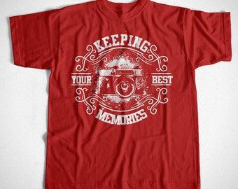 T-Shirt Keeping your best memories S M L XL 2XL 3XL 4XL Photograf Camera