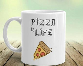 Gift For Pizza Lover, Unique Foodie Gifts, Pizza Is Life, Pizza Life, Pizza Lovers, Foodie Gift For Her, Pizza Mug, Pizza Party,Funny Gifts