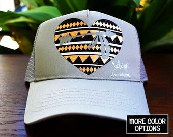Warrior Trucker Hat / Arrow, Tribal, backpacking, Christian hat, women's hat, women's trucker hat, Christian trucker hat