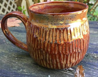 Rusty Handcarved Mug