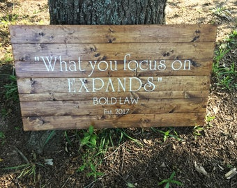 Custom Business Sign ~Personalized Large Sign ~ Custom Quote Sign~ Large Sign~ Name sign~ Reclaimed Pallet Wood Sign~ Extra Large Sign