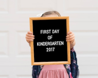 First Day of Kindergarten, First Day of School Sign, First Day Printable, Back to School, Classroom Door, Photo Prop Instant Download