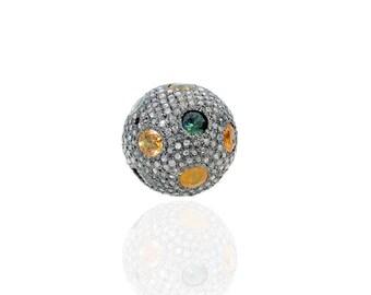 SDC1884 M.Sapp & Pave Diamond Beads