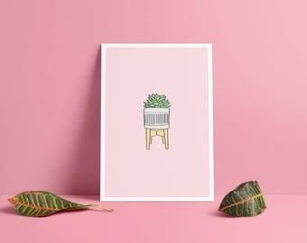 Succulent print • & card