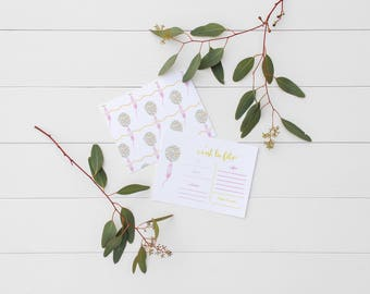 Invitation card • balloon confetti