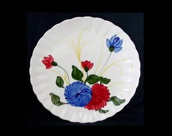 "Blue Ridge Cake Plate CHRYSANTHEMUM 11.75""-12"" Chop Platter Charger Tray Dinnerware Colonial Salad Bowl Underplate (B05) 6904"