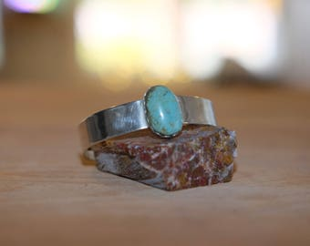 Handmade Sterling Silver and Turquoise Cuff Bracelet