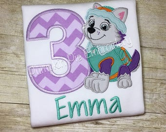 Everest Birthday Shirt - Paw Patrol - Ages 1-9